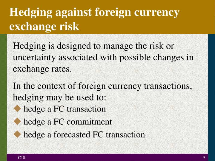 Hedging exchange rate risk cryptocurrencies