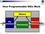 how programmable nics work