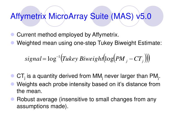 Affymetrix MicroArray Suite (MAS) v5.0