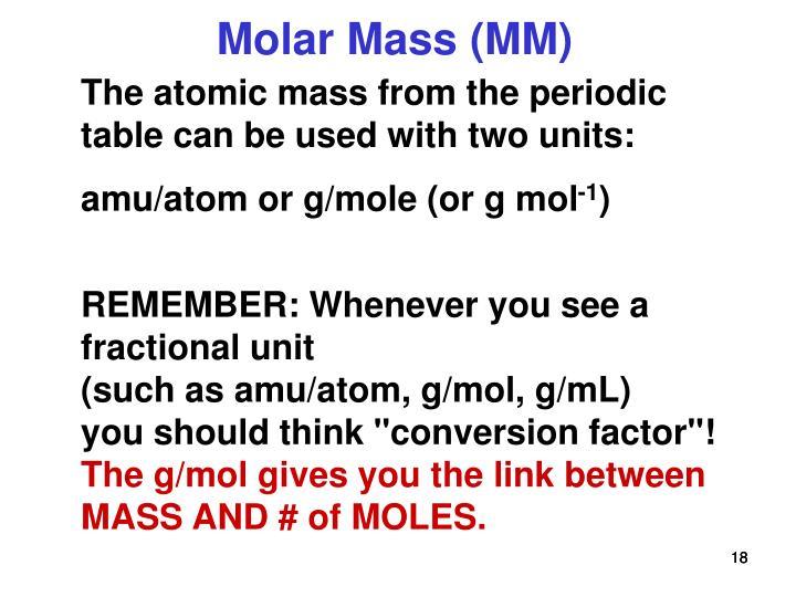 Ppt Atomic Weight Molecular Weight Formula Weight And Molar Mass