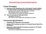 potential improvements alternatives
