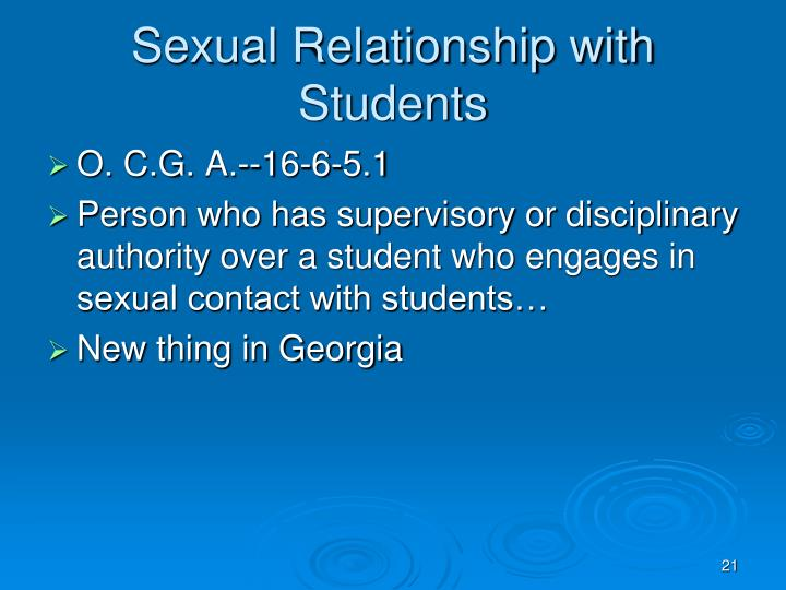 Sexual Relationship with Students