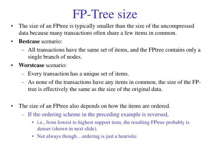 FP-Tree size