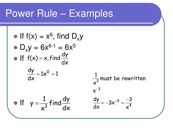 Power Rule – Examples