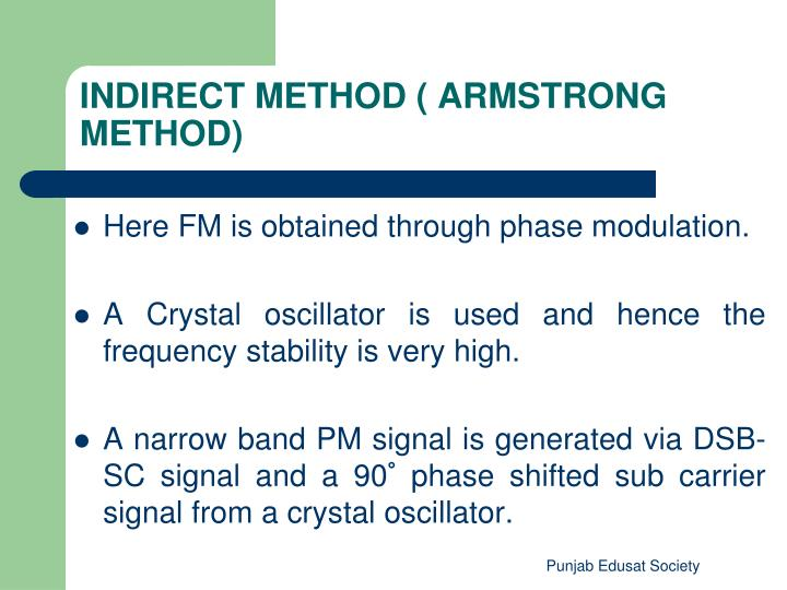 Here FM is obtained through phase modulation.