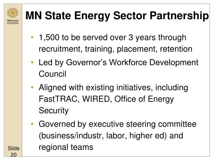 MN State Energy Sector Partnership