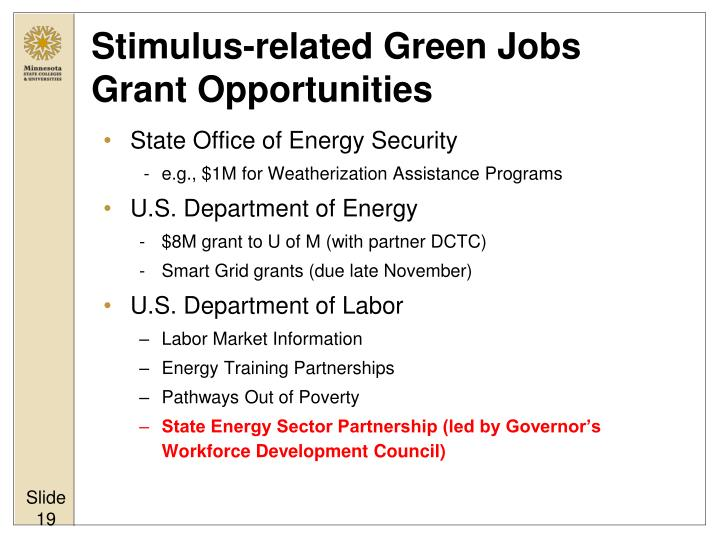 Stimulus-related Green Jobs