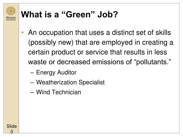 What is a green job