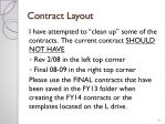 contract layout