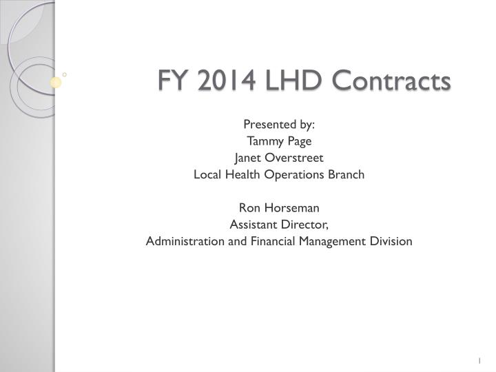 fy 2014 lhd contracts n.