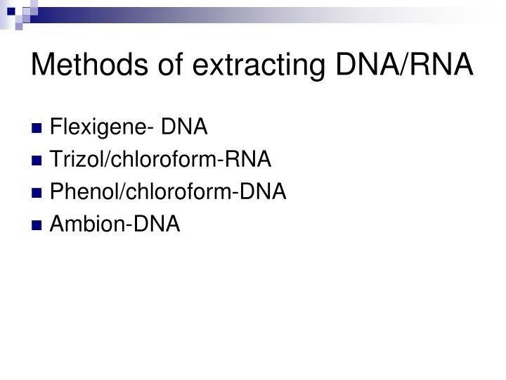 Methods of extracting DNA/RNA