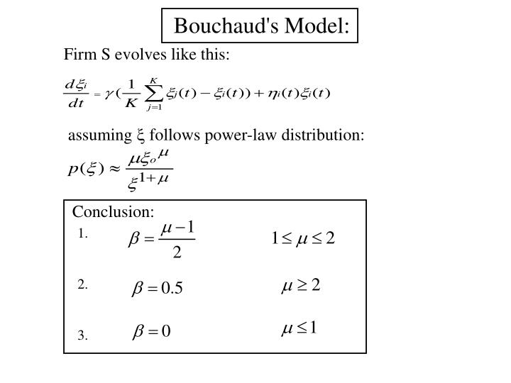 Bouchaud's Model: