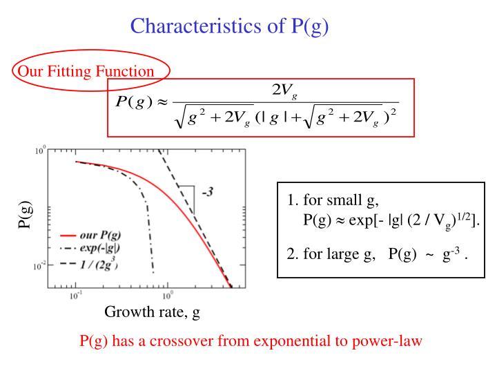 Characteristics of P(g)