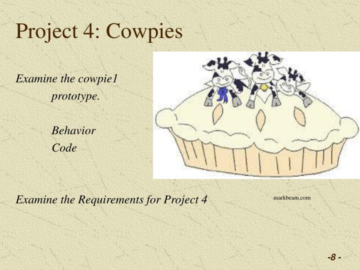 Project 4: Cowpies