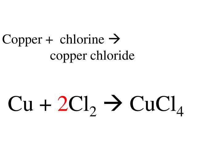 Copper +  chlorine