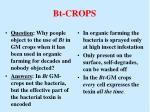 bt crops