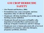 gm crop herbicide safety