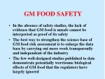 gm food safety
