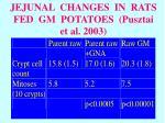 jejunal changes in rats fed gm potatoes pusztai et al 2003