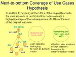 next to bottom coverage of use cases hypothesis