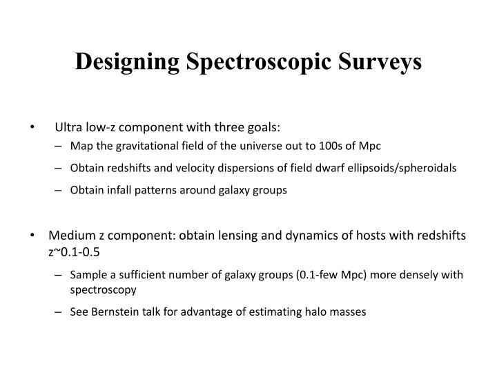 Designing Spectroscopic Surveys