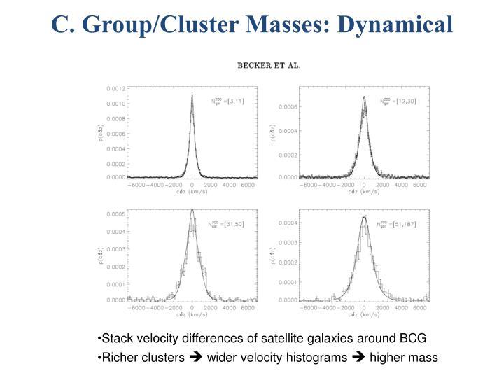C. Group/Cluster Masses: Dynamical