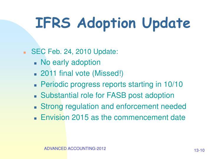 IFRS Adoption Update
