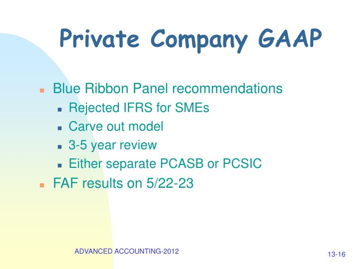Private Company GAAP