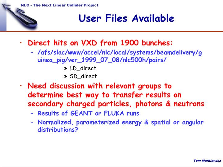 User Files Available