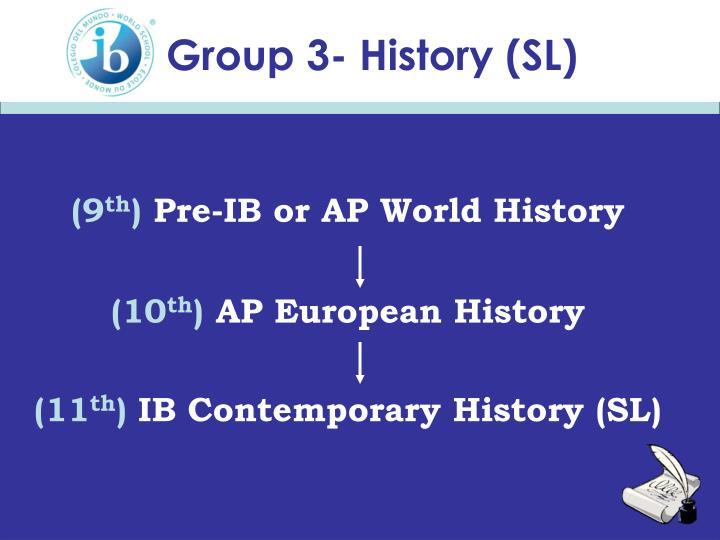 Group 3- History (SL)