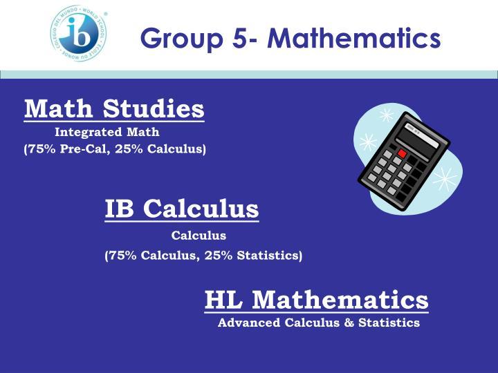Group 5- Mathematics