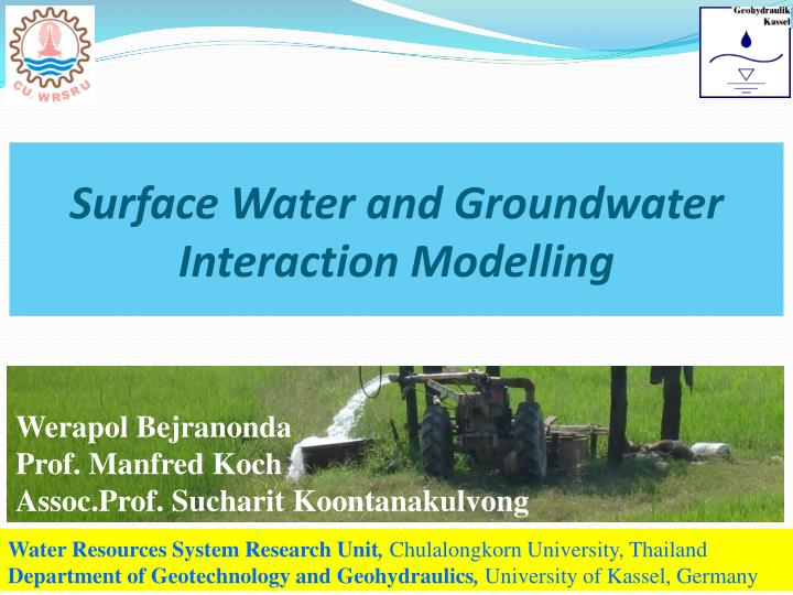 surface water and groundwater interaction modelling n.