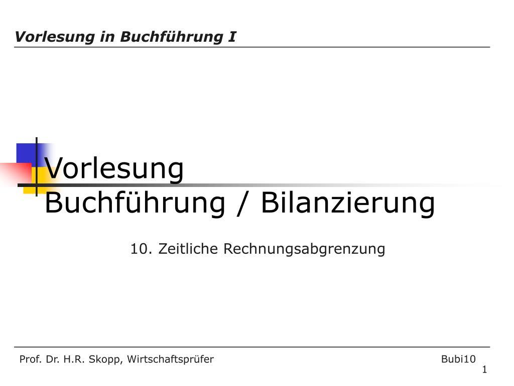 Ppt Vorlesung Buchführung Bilanzierung Powerpoint Presentation