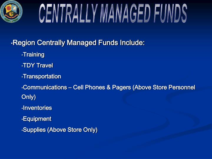 CENTRALLY MANAGED FUNDS