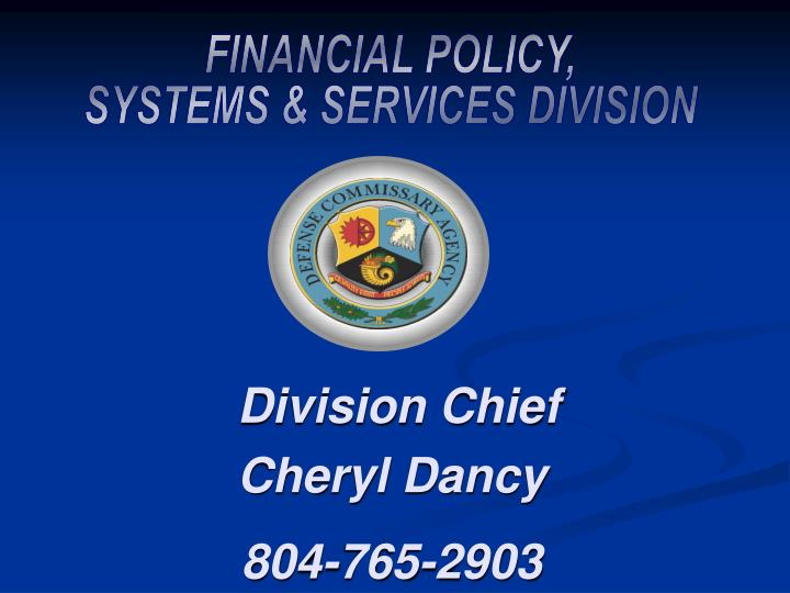FINANCIAL POLICY,