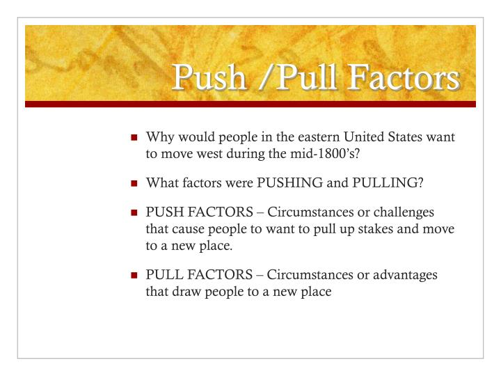 push and pull factors of middle east Economic, political, environmental, social push and pull factors of chinese migration to america for kids, children, homework and schools pull factors are the reasons why people moved to the united states of america in search of freedom, safety, stability and new opportunities.