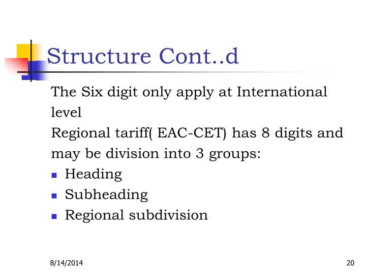 Structure Cont..d