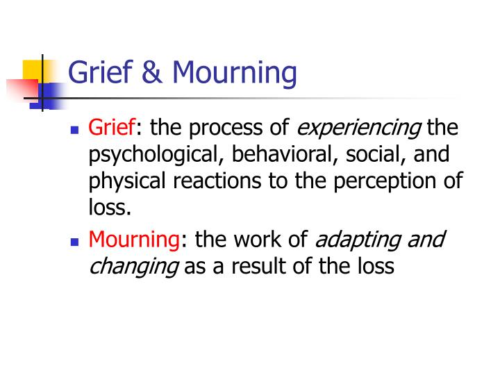 discuss the psychological and physical effects of loss and grief Grief is a natural response to losing someone or something that's important to you you may feel a variety of emotions, like sadness or loneliness and you might experience it for a number of.