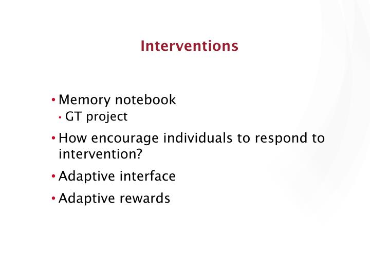 Interventions