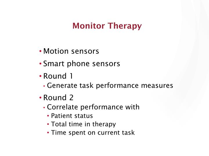 Monitor Therapy