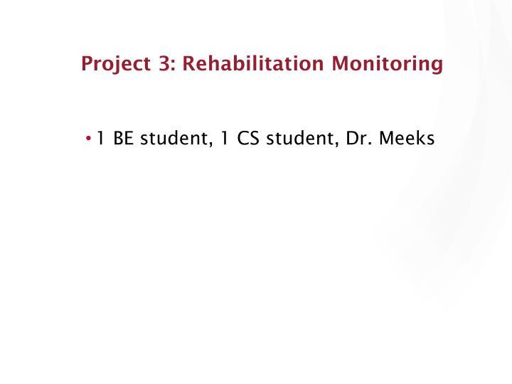 Project 3: Rehabilitation Monitoring