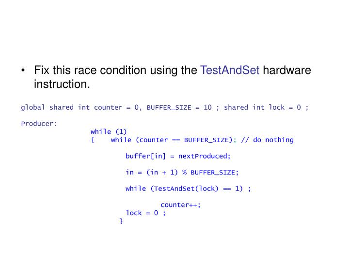 Fix this race condition using the