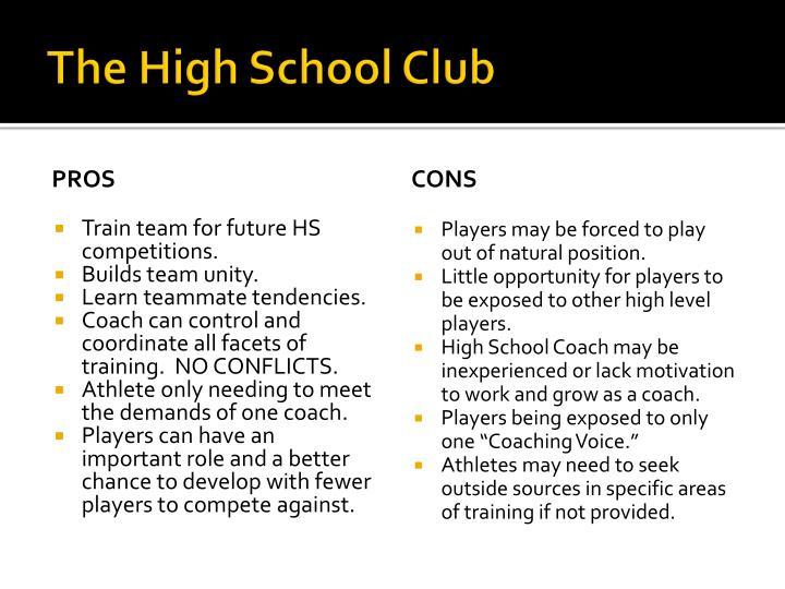 The high school club