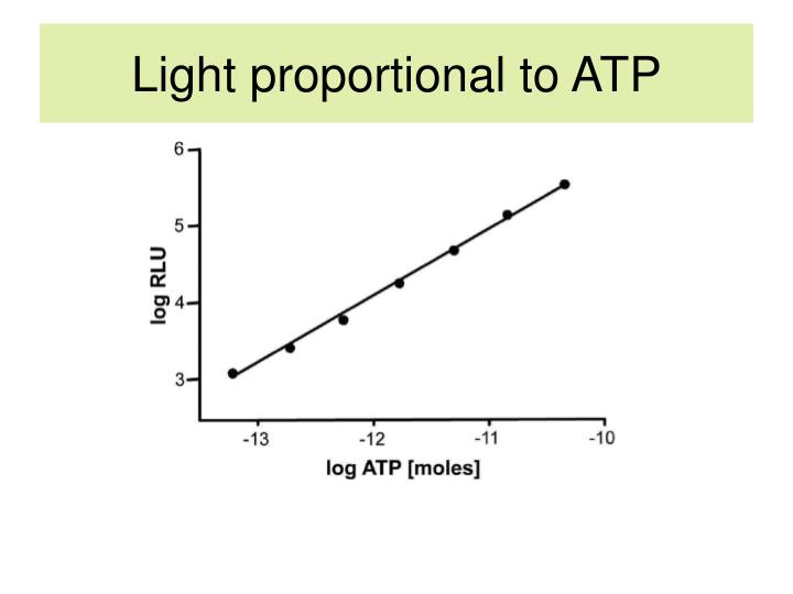 Light proportional to ATP