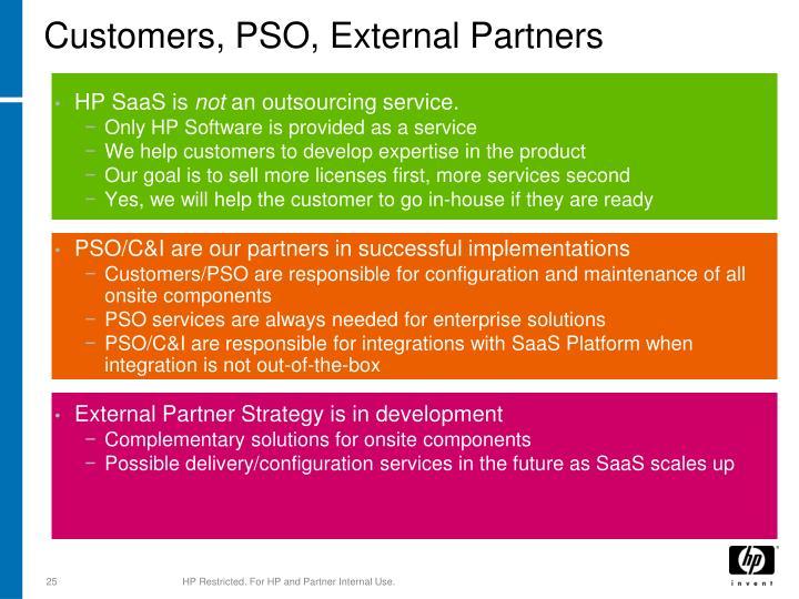Customers, PSO, External Partners