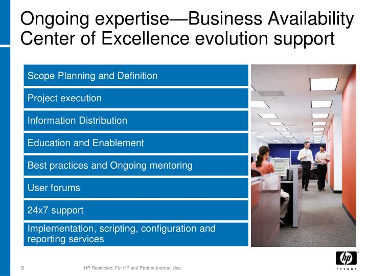 Ongoing expertise—Business Availability