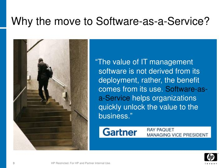Why the move to software as a service