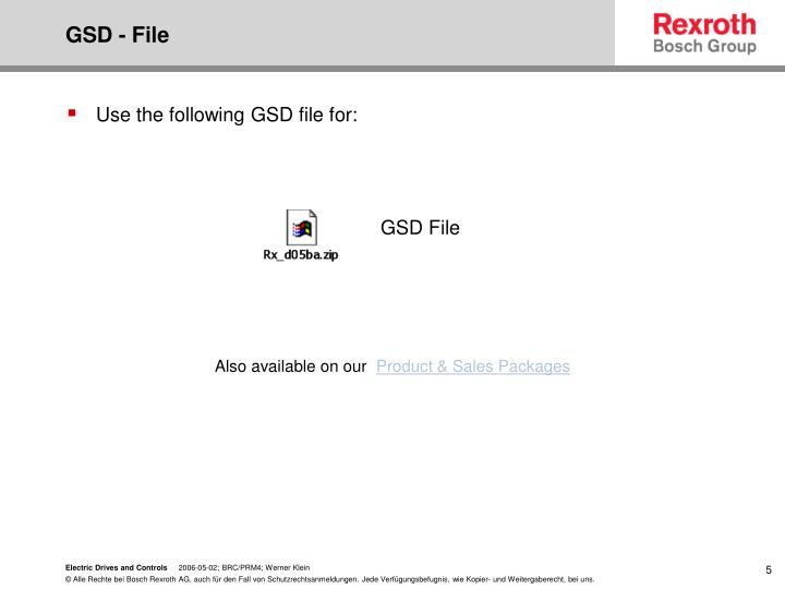 GSD - File