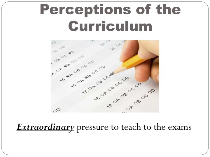 Perceptions of the Curriculum