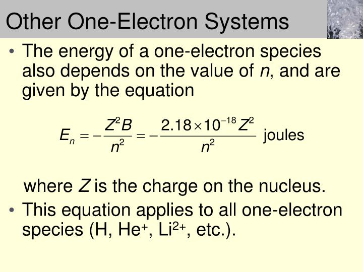 Other One-Electron Systems